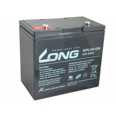 LONG baterie 12V 55Ah M6 LongLife 12 let (WPL55-12N)