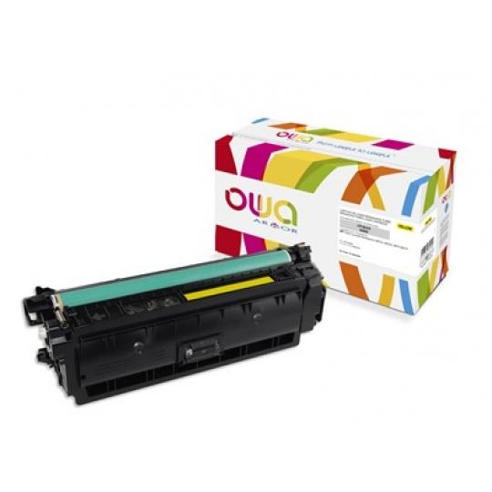 OWA Armor toner pro HP Color Laserjet Ese M552, M553, MFP M577, 9500   Stran, CF362X, žlutá/yellow