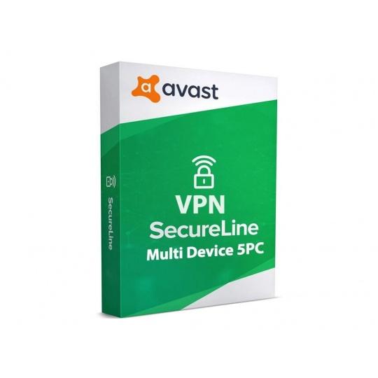 _Nová Avast SecureLine VPN Multi-device 5PC na 12 měsíců - ESD