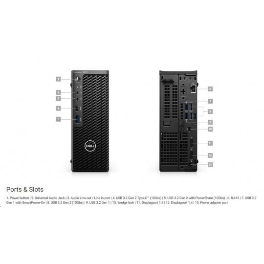 DELL Precision 3240/Core i7-10700/16GB/512GB SSD/Quadro P1000/TPM/Kb/Mouse/W10Pro/vPro/3YPS