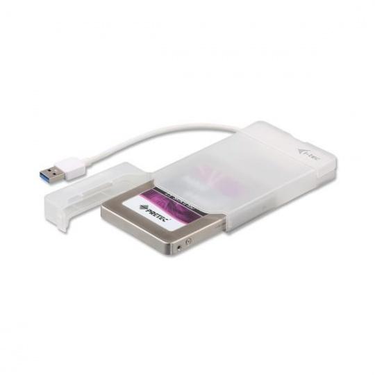 "iTec USB 3.0 MySafe Easy, rámeček na externí pevný disk 6.4 cm / 2.5"" pro SATA I/II/III HDD SSD, bílý"
