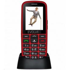EVOLVEO EasyPhone EG, mobilní telefon pro seniory s nabíjecím stojánkem, červená