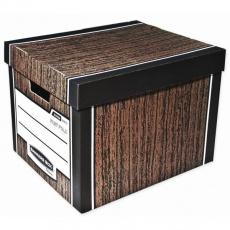 Archivační kontejner Fellowes Bankers Box Woodgrain hnědá (2ks)