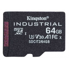 Kingston 64GB microSDXC Industrial C10 A1 pSLC Card Single Pack