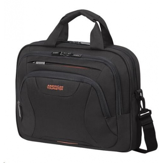 "Samsonite American Tourister AT WORK lapt. bag 13,3"" - 14.1"" Black/orange"