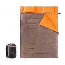 Naturehike spací pytel pro 2 osoby 2400g - hnědá/oranžová
