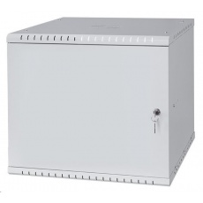 """LEXI 19"""" nástěnný rozvaděč Basic 9U, šířka 520mm, hloubka 450mm, plechové dveře, bez zad, šedý"""