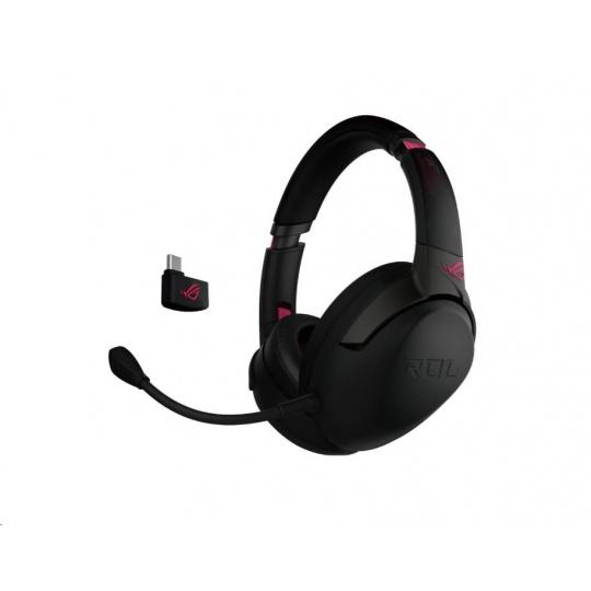 ASUS sluchátka ROG STRIX GO 2.4 Electro punk, Wireless Gaming Headset, černo-růžová