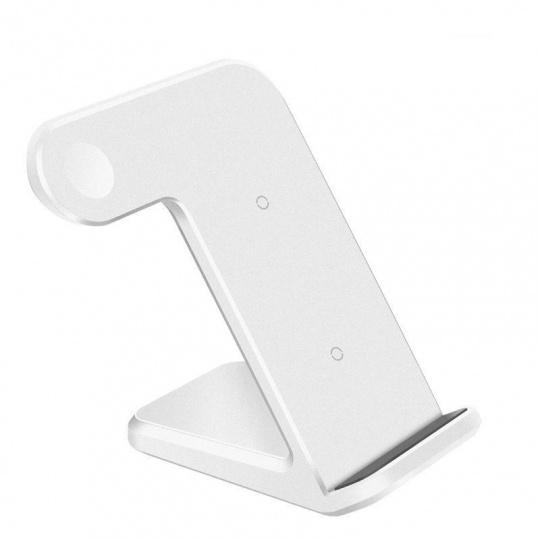 COTEetCI nabíjecí stanice 3v1 pro Apple iPhone - Watch - AirPods bílá