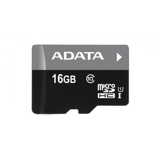 ADATA MicroSDHC karta 16GB UHS-I Class 10 + SD adaptér, Premier
