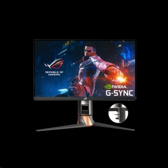 ASUS LCD 24.5' PG259QNR 1920x1080 FAST IPS 360Hz, NVIDIA Reflex Analyzer, Desktp Mount Kit, HDMI DP USB 3.0