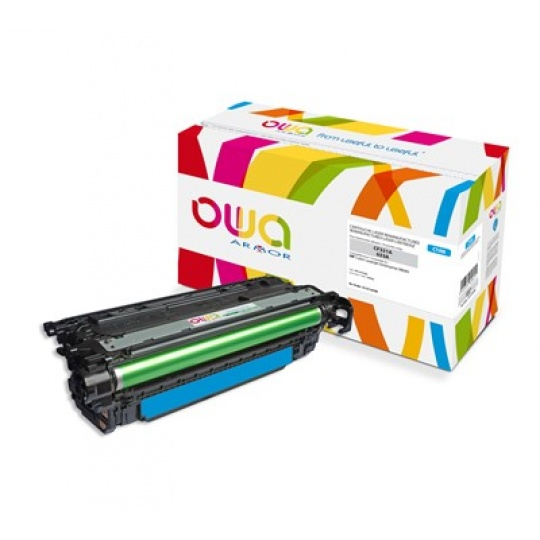 OWA Armor toner pro HP Color Laserjet Ese M680, 16500 Stran, CF321A, modrá/cyan