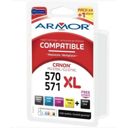 ARMOR cartridge pro CANON Pixma MG5751Sada (PGI-570XL+CLI-571XL CMYK) 1x25ml, 4x13ml