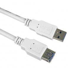 PremiumCord Prodlužovací kabel USB 3.0 Super-speed 5Gbps A-A, MF, 9pin, 5m, bílá