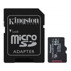 Kingston 64GB microSDXC Industrial C10 A1 pSLC Card + SD Adapter