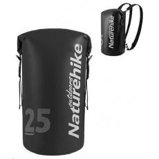 Naturehike vodotěsný batoh 250D 25l 600g - černý