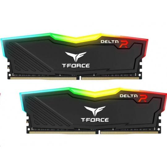DIMM DDR4 16GB 3200MHz, CL16, (KIT 2x8GB), T-FORCE DELTA RGB DDR4 (Black)