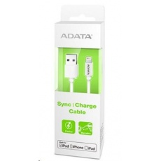 ADATA Sync & Charge Lightning kabel - USB A 2.0, 100cm, plastový, bílý