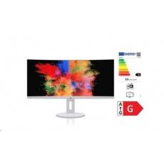 FUJITSU LCD P34-9 UE, EU, UWQHD 3440x1440 USB-C-HUB CURVED 450cd 2ms USB-C-HUB DP HDMI REPRO USB PIVOT - bílý