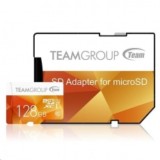 TEAM MicroSDXC karta 128GB Color Card U1 (R:80MB/s, W:20MB/s)