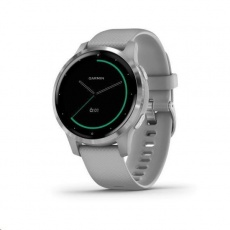 Garmin monitorovací náramek a hodinky vívoactive4S Silver/Gray Band - rozbaleno