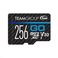 TEAM MicroSDXC karta 256GB GO CARD U3 (R:90MB/s, W:45MB/s)