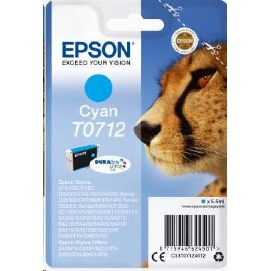 EPSON ink bar Singlepack Cyan T0712 DURABrite Ultra Ink (5,5 ml)