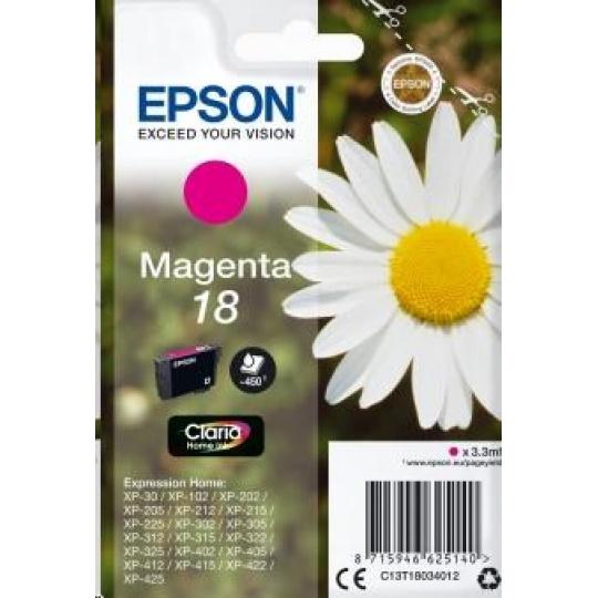 "EPSON ink bar Singlepack ""Sedmikráska"" Magenta 18 Claria Home Ink"