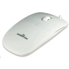 MANHATTAN Myš Silhouette USB optická, bílá