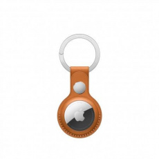 APPLE AirTag Leather Key Ring - Golden Brown