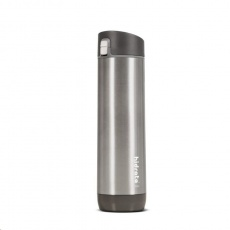 HidrateSpark Steel – chytrá lahev s brčkem, 620 ml, stainless
