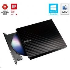 ASUS DVD Writer SDRW-08D2S-U LITE/BLACK, External Slim DVD-RW, black, USB